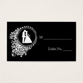 モダンでロマンチックなカップルの結婚式の座席表 名刺