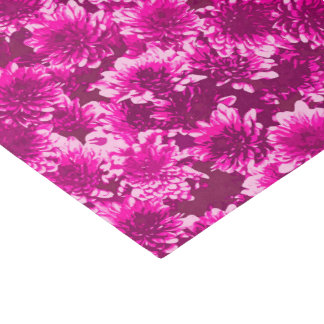 モダンで写実的なダリアパターン、紫色の紫色 薄葉紙