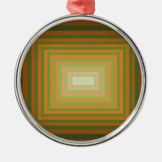 モダンで写実的な正方形の目の錯覚の芸術 メタルオーナメント