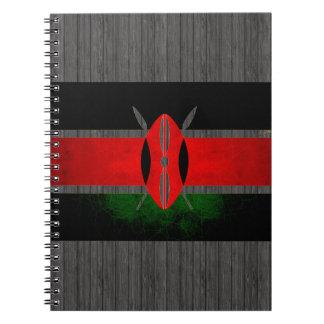 モダンで刃の鋭いケニアの旗 ノートブック