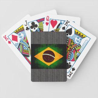モダンで刃の鋭いブラジルの旗 バイスクルトランプ