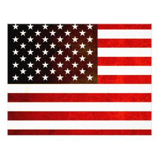 モダンで刃の鋭い米国旗 チラシ