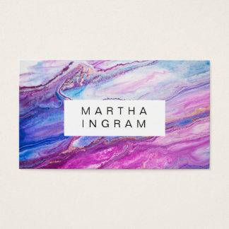 モダンで創造的なデザインの紫色の銀河系の抽象芸術 名刺