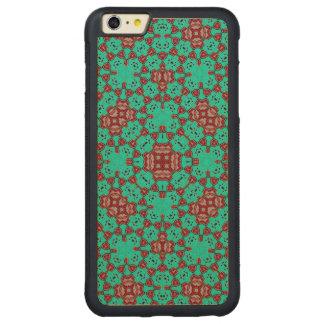 モダンで多彩で粋なパターン CarvedメープルiPhone 6 PLUSバンパーケース