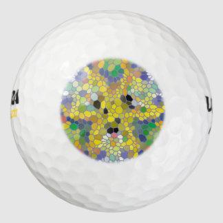 モダンで多彩なモザイク ゴルフボール