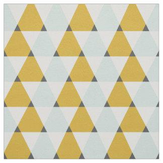 モダンで幾何学的で真新しく黄色い三角形パターン ファブリック