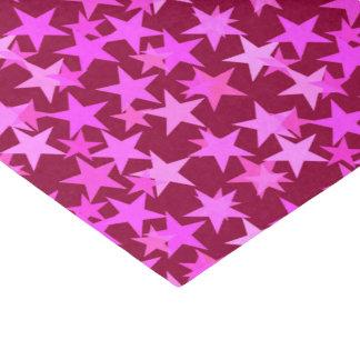 モダンで幾何学的な星、バーガンディのワインおよびピンク 薄葉紙
