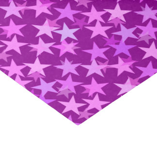 モダンで幾何学的な星、紫色の紫色および蘭 薄葉紙