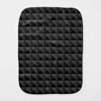 モダンで幾何学的な黒い正方形パターン バープクロス