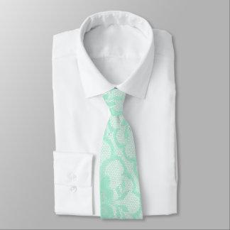 モダンで王室ので真新しいパステル調の白いレース カスタムネクタイ