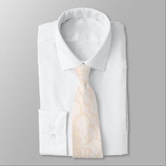 モダンで王室のなパステル調のCremaの白のレース ネクタイ