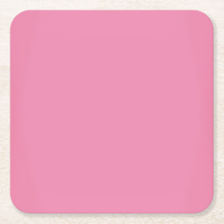 モダンで甘いピンクのカスタマイズ可能 スクエアペーパーコースター