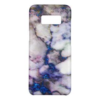 モダンで白く、ピンクの大理石および青いグリッター Case-Mate SAMSUNG GALAXY S8ケース