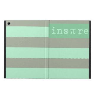 モダンで真新しい緑のストライプので刺激を受けたなiPadの箱 iPad Airケース