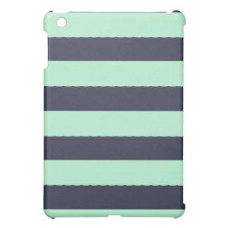 モダンで真新しい緑のストライプのなiPadの箱 iPad Miniケース