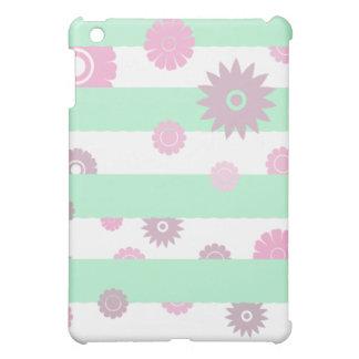 モダンで真新しい緑の花パターンiPadの箱 iPad Miniカバー