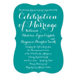 モダンで粋なタイポグラフィの水の結婚式招待状 12.7 X 17.8 インビテーションカード