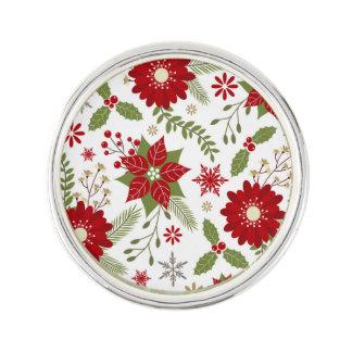 モダンで素朴なクリスマスの花 ラペルピン