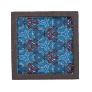 モダンで豊富で青いフラクタルパターン ギフトボックス