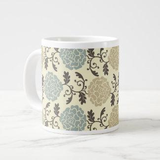 モダンで豪奢なバラの花柄のジャンボマグ ジャンボコーヒーマグカップ