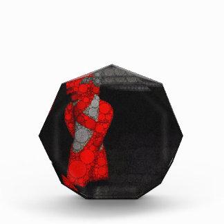 モダンで赤いバレエシューズ 表彰盾
