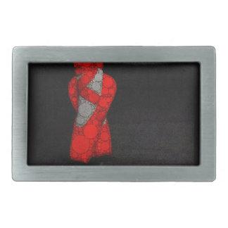 モダンで赤いバレエシューズ 長方形ベルトバックル