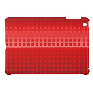 モダンで赤い勾配の正方形はパターンをタイルを張りました iPad MINIカバー