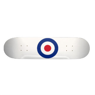 モダンで青い赤と白のスケートボード|のモダンなギフト オリジナルスケートボード