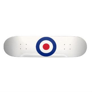 モダンで青い赤と白 オリジナルスケートボード