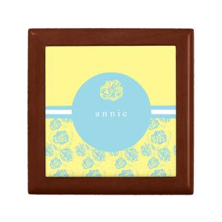 モダンで青および黄色の植物 ギフトボックス