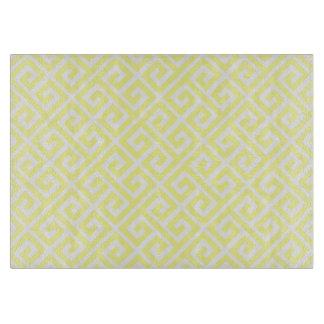 モダンで黄色いギリシャの主パターンまな板 カッティングボード