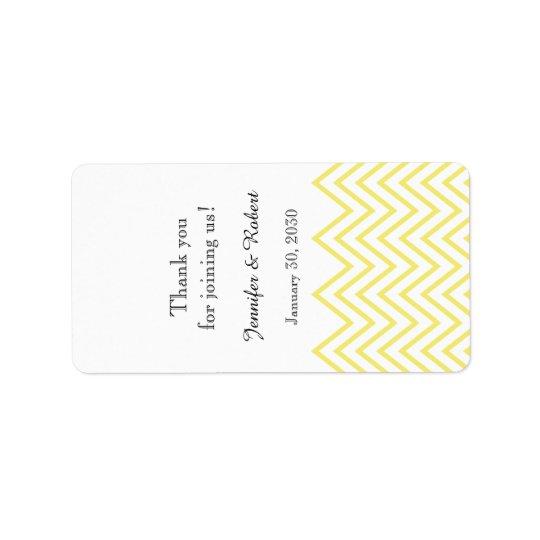 モダンで黄色いシェブロンの結婚式のリップ・クリームのラベル 宛名ラベル
