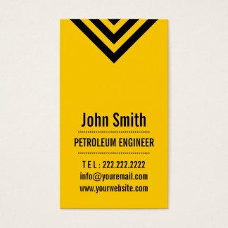 モダンで黄色い石油エンジニアの名刺 名刺