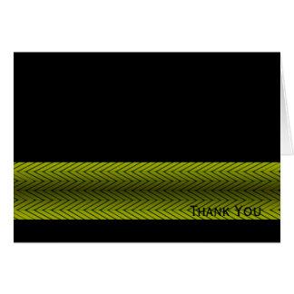 モダンで黄色および黒い競争のストライプ カード