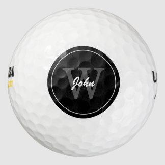 モダンで黒いモノグラム ゴルフボール