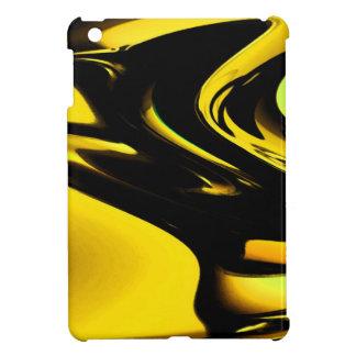 モダンで黒くおよび黄色のポップアートパターンデザイン iPad MINI カバー
