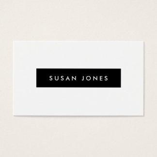 モダンで黒く及び白い個人事業カード 名刺