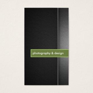 モダンで、ミニマルな黒及びライムグリーンの写真撮影 名刺