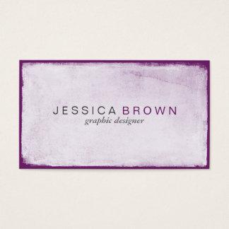 モダンなすみれ色の紫色の黒板の名刺 名刺