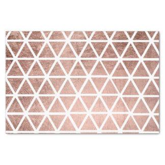 モダンなのどのばら色の金ゴールドホイルの三角形パターン 薄葉紙