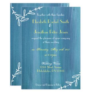 モダンなのどの色彩の鮮やかな結婚式招待状 カード