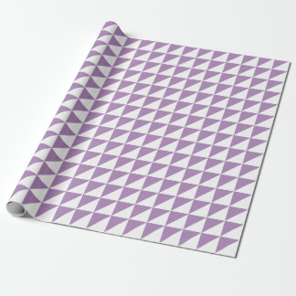 モダンなアフリカバイオレットの三角形の包装紙 ラッピングペーパー