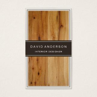 モダンなインテリア・デザインのスタイリッシュな木製の穀物 スタンダード名刺
