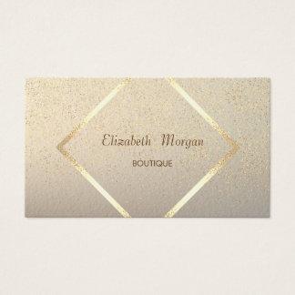 モダンなエレガントの金ゴールドフレーム、紙吹雪 名刺