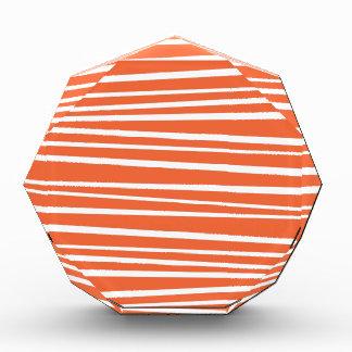 モダンなオレンジの抽象芸術のトラのストライプなジグザグ形 表彰盾
