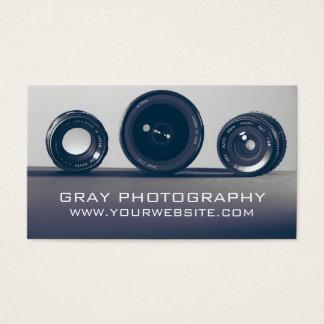 モダンなカメラの写真撮影 名刺