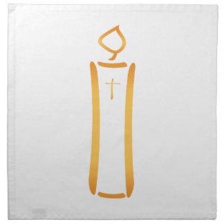 モダンなキリスト教の蝋燭 ナプキンクロス