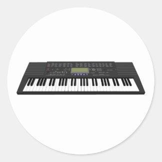 モダンなキーボードSynth: 3Dモデル: ラウンドシール