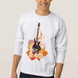 モダンなギターのスエットシャツ スウェットシャツ