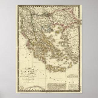 モダンなギリシャ人の島、アルバニア、マケドニア ポスター